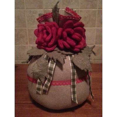 Fermaporta con rose rosse