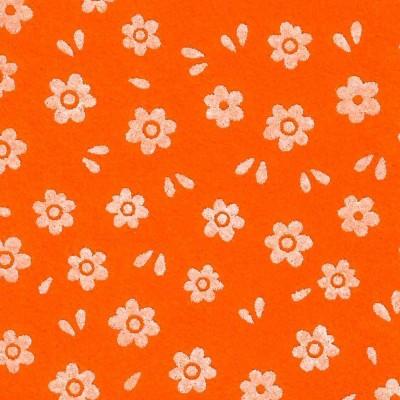 Arancio stampa fiori