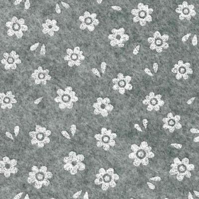Grigio melange stampa fiori