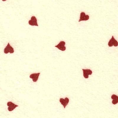 Panna cuori rossi