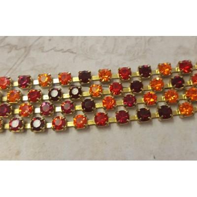 Collana crystal fall variante Arancio / Rosso