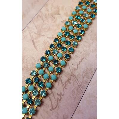 Collana crystal fall variante turchese