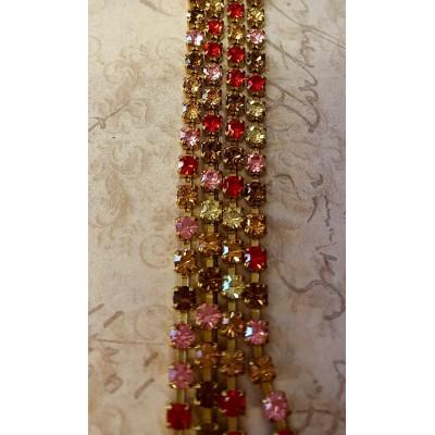 Collana crystal fall variante rosa / giallo / rosso