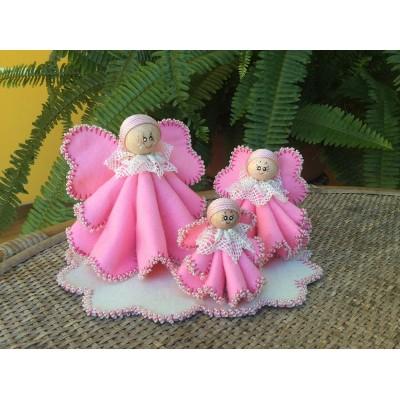 Tris di Angeli rosa