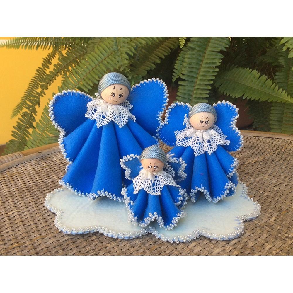 Tris di Angeli azzurro