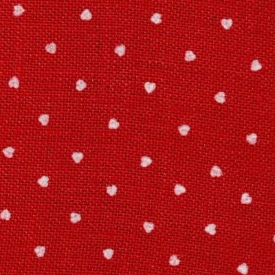 juta rossa con cuori bianchi