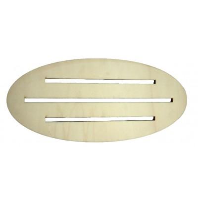 Supporto ovale 35x15cm