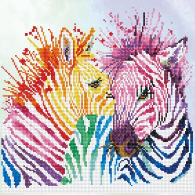 Rainbow zebras