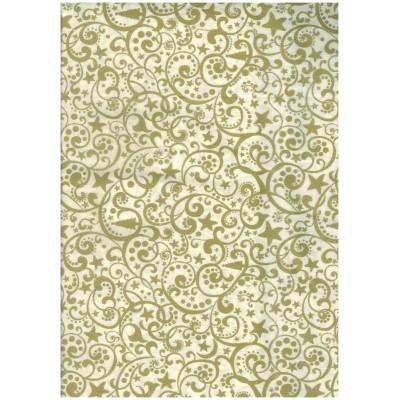 Bianco con motivi oro