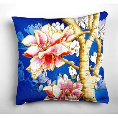 Magnolias On Blue 2 (cuscino)